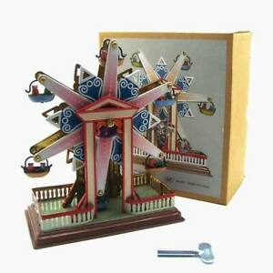 New Hand-Made Retro Wind-up Toy Tin Ferris Wheel Toy Creative Props Collection