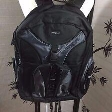 """Targus 15.4"""" Laptop Notebook Sport Backpack Padded Front Pocket Book Bag Black"""