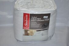 Sunbeam Quilted Heated Mattress Pad with SimpliTouch Pro Controller, Queen