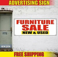 Furniture Sale Banner Advertising Vinyl Sign Flag shop open special New Used now