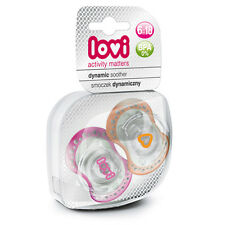 NEW Dynamic soother silicone Lovi 6-18 months (2 pcs) Baby Dummy Infant Girl