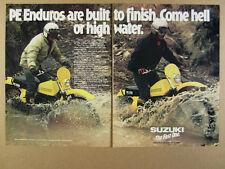 1978 Suzuki PE250 PE175 PE 250 175 Motorcycles photo vintage print Ad