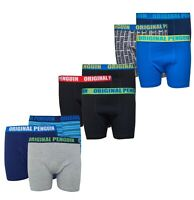 3 Pack Boys Original Penguin Cotton Boxer Shorts Sizes Age from 7 to 12 Yrs
