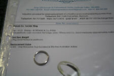 genuine tiffany and co platinum lucida ring with valuation size 11usa