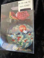 Coca-Cola Vintage 1995 Coca Cola Polar Bear Ball Christmas Ornament Polar Bear