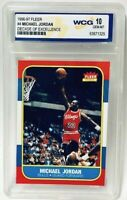 1996-97 Fleer Michael Jordan Decade Of Excellence #4 Rookie Card Graded Gem Mint
