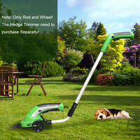 2 In 1 Rechargeable Cordless Grass Shear Lawn Mower Hedge Trimmer Garden Pruning