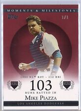 2007 Topps Moments and Milestones Mike Piazza 1/1 Los Angeles Dodgers