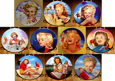 Complete Set of 10 Marilyn Monroe Collector Plates by the Hamilton Collection