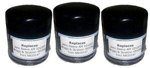 Prime Gaurd PGO 241 Oil Filters Replaces John Deere AM 101207 3 Pack