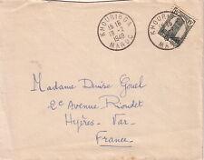 MAROC - KHOURIBGA - LE 18-2-1949 - LETTRE POUR LA FRANCE.