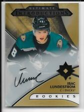18-19 UD ULTIMATE COLLECTION INTRODUCTIONS AUTOGRAPH ISAC LUNDESTROM RC AUTO