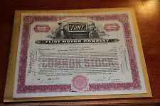 1928 Flint Motor Company Vintage Auto Stock Certificate  25 Shares