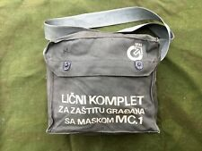 Yugoslavian Jna Gas Mask witg bag, accesories and papers