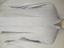 Etro Mens White Pindot Long Sleeve Cotton Shirt size 41 L Italy Made