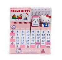 Pink Hello Kitty Calendar Building Blocks DIY Calendars Children Room Desk Decor