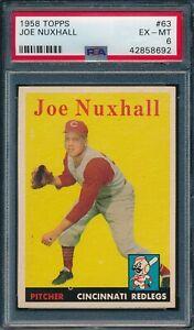 1958 Topps Set Break # 63 Joe Nuxhall PSA 6 *OBGcards*