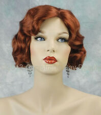 Beautiful Copper Red Fingerwave 1920s, 1930s Curly Gatsby Roxie Flapper Wig!