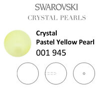 Genuine SWAROVSKI 5818 Crystal Round Pearls Half Drilled * Many Colors & Sizes