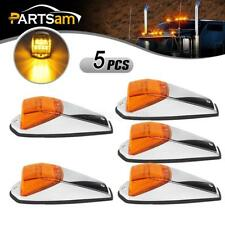 5pcs Amber Chrome 17 LED Cab Markers Lights for Peterbilt/Kenworth/Freightliner