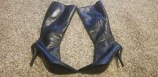 "NINE WEST - NWBOTAMY, Black leather knee high boots, 3.5"" stiletto heel SZ 8.5"
