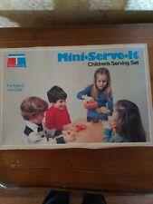 Vintage Childs Tupperware Serve It Set 1979