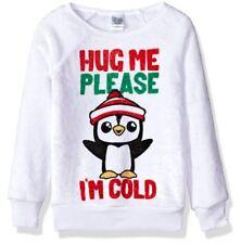 Evy - Big Girl's Hug Me Please Cozy Woobie Pullover Top - White - Size Medium