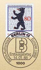 Berlin 1988: Berlin Kulturstadt Europas 1988! Nr. 800 mit Sonderstempel! A! 155