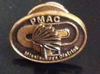 PMAC MISSISSAUGA DISTRICT ONTARIO CANADA NATIVE INDIAN HEADDRESS PIN