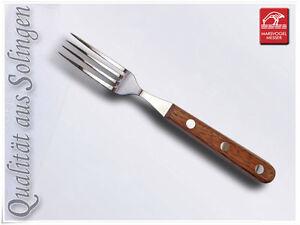 "Marsvogel Steakgabel Brotzeitgabel Holz ""Bubinga"" RF"