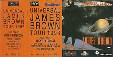 RARE / TICKET DE CONCERT - JAMES BROWN LIVE A PARIS BERCY MARS 1993 / LIKE NEW