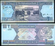 AFGHANISTAN billet neuf 2 AFGHANIS  post TALIBAN pick 65 ARC DE TRIOMPHE 2002