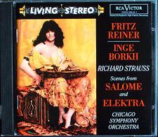 Fritz REINER: STRAUSS Salome Elektra Inge Borkh RCA LIVING STEREO CD Schoeffler