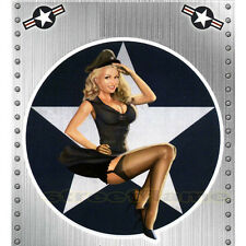 NOSE ART 50's MISS USA Pin-Up GIRL STICKER DECAL Bombs Away Reporting for Duty