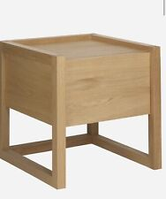 Pair Of Habitat Hana II Solid Oak 1 Drawer Bedside Tables
