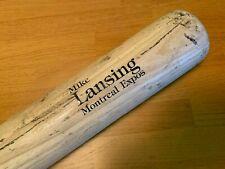 Montreal Expos Mike Lansing Game Used Cracked Bat