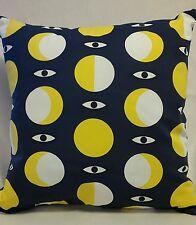Lazy persona Ojos/Ikea glodande azul tela patrón de círculo amarillo + BN Cojín Almohadilla