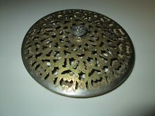 Vintage Decorative Brass & Chrome Tone Metal Pan Warmer Bed Foot 4021 13