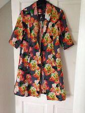 BN Primark Grey Bright Floral Print Bloggers Statement Blazer Kimono Jacket 8