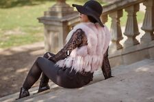 real fox fur gilet pink  Real Fur size 8-10 Black Friday Event
