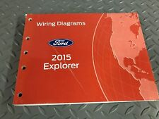 Factory 2015 Ford Explorer Electrical Wiring Diagrams EWD Service Manual