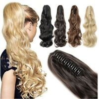 UK Natural Long Ponytail Thick Lady Claw  on in Pony Tail Hair Extensions