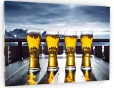 BEERS/LAGER/PUB GARDEN CANVAS PICTURE PRINT WALL ART CHUNKY FRAME LARGE 634-2