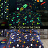 Glow in the Dark SPACE Kids Bedding Set Childrens Duvet Cover Quilt Cover Set