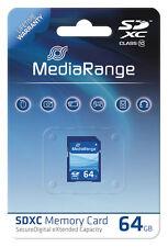 MediaRange SDXC 64 GB Karte SD Speicherkarte Class 10