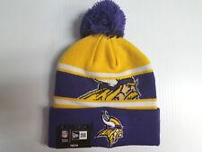 YOUTH Minnesota Vikings New Era Knit Hat Callout Pom Beanie Stocking Cap NFL