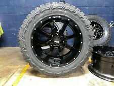 "20x10 Moto Metal Mo970 Black Wheels Rim 33"" Mt Tires 6x5.5 Chevy Silverado 1500"