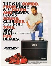 1995 Peavey 5150 Guitar Speakers Eddie Van Halen Magazine Ad