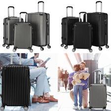 """3 Piece Luggage Set Expandable Hardshell Spinner Suitcase w/TSA Lock 20""""/24"""