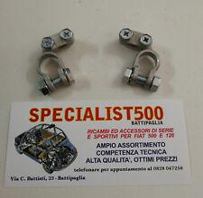 COPPIA MORSETTI BATTERIA FIAT 500  D F L R